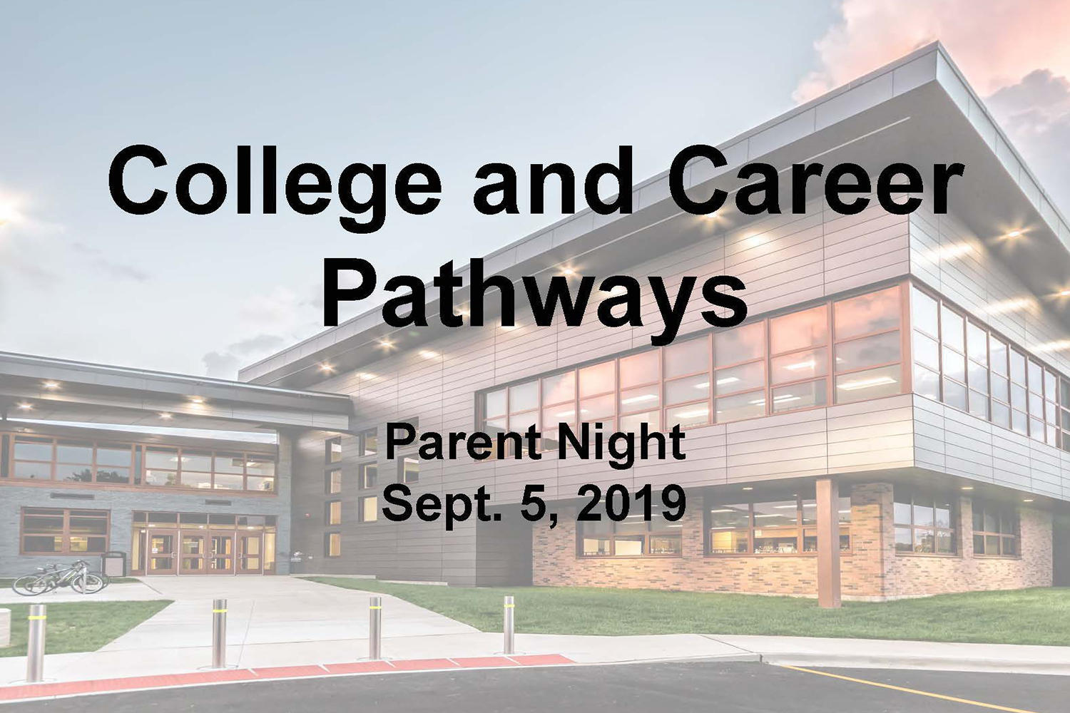 College & Career Pathways presentation slideshow