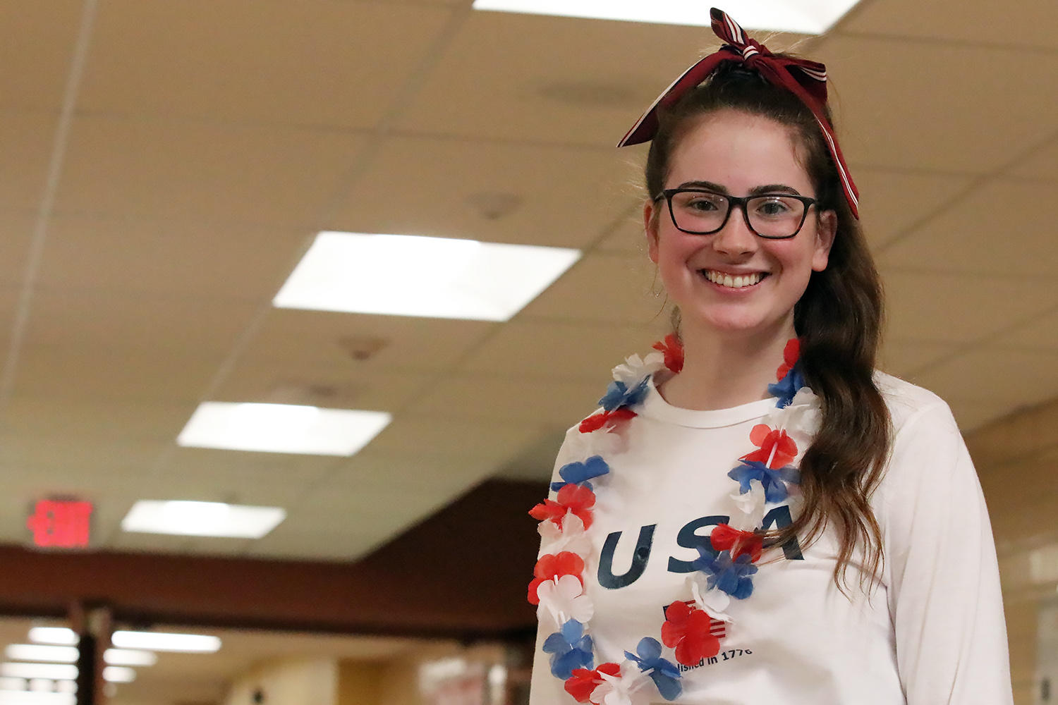 EPHS student wearing red, white and blue for 'Merica Day.