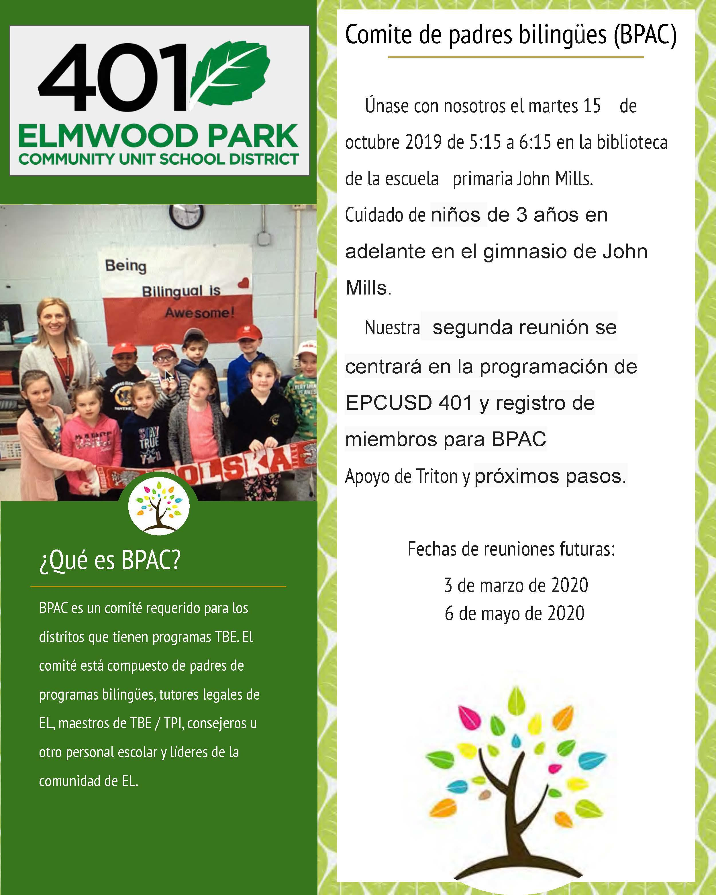 BPAC flyer in Spanish