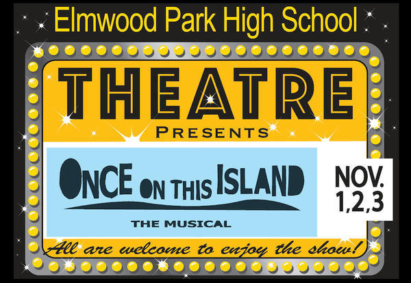 "Promo sign for ""One on This Island"""