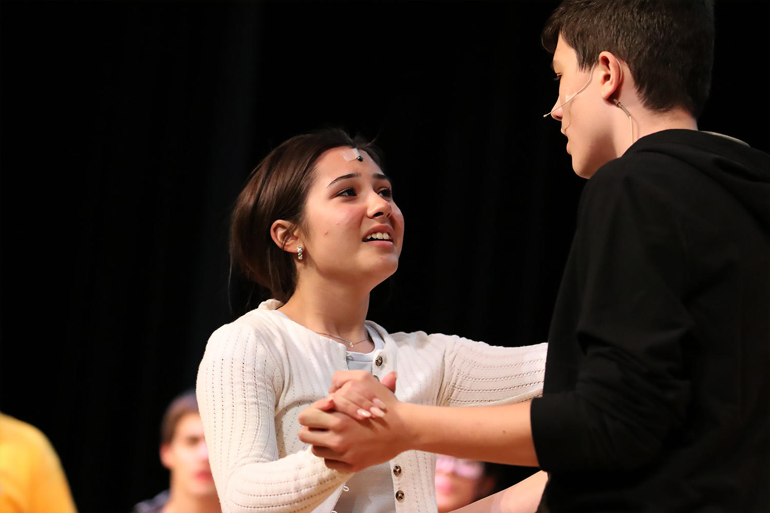 Koko Hristov as Daniel rehearses with sophomore Adreana Duarte in the role of Andrea.
