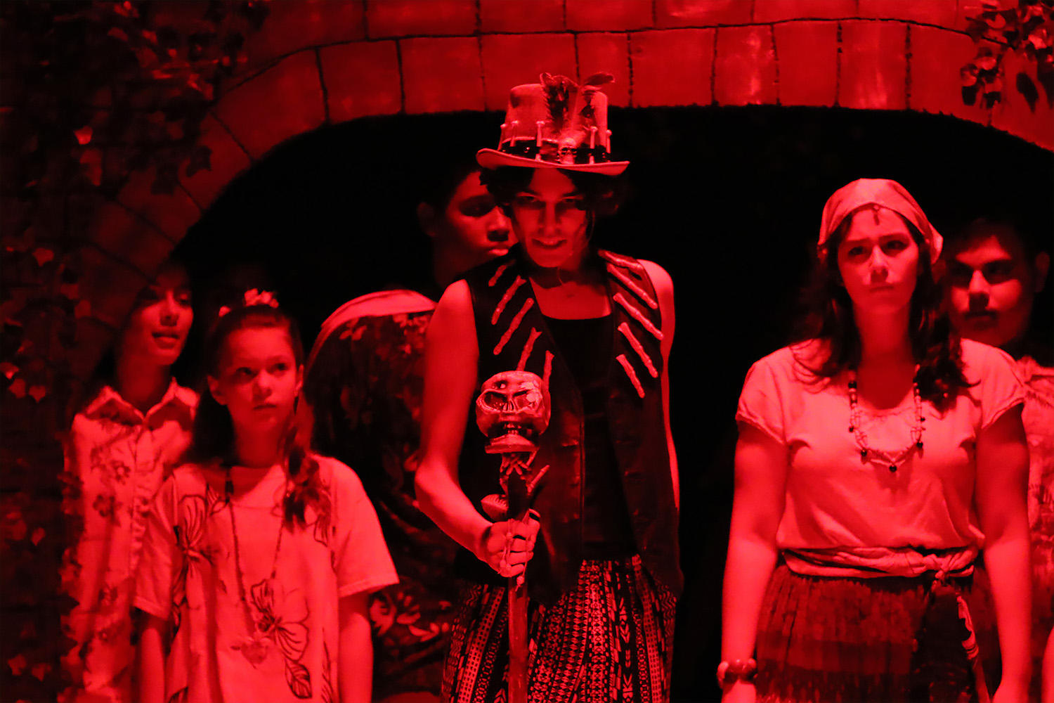 Senior Matt Hernandez plays the menacing role of Papa Ge, Demon of Death.