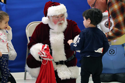 Santa visits the ECC on Monday, Dec. 16, 2019.