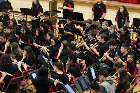 Elm Band members perform at the school's 2019 Winter Concert.