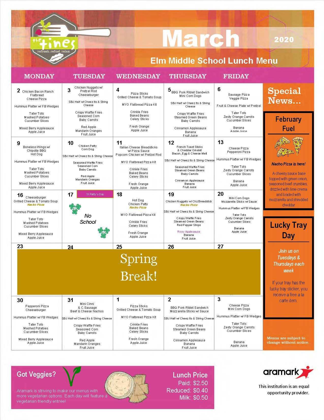 Elm Lunch, March 2020