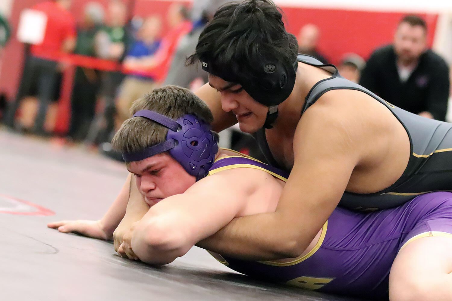 Gio Vega wrestles at sectionals