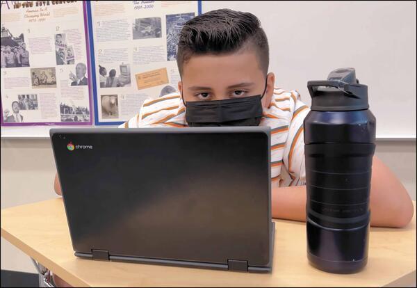 Elm student using a Chromebook