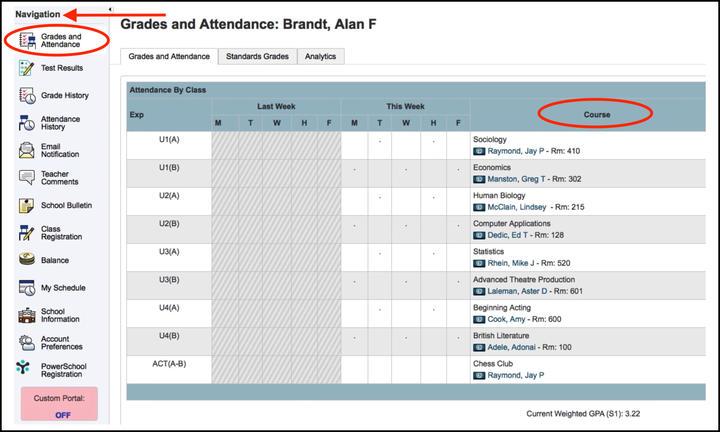 Powerschool Screenshot2