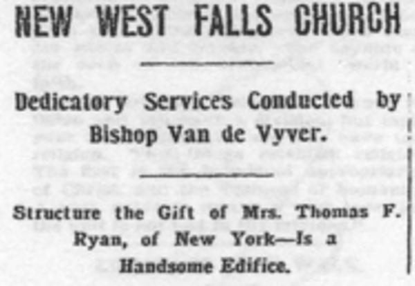 1903 - Dedication of the Stone Church