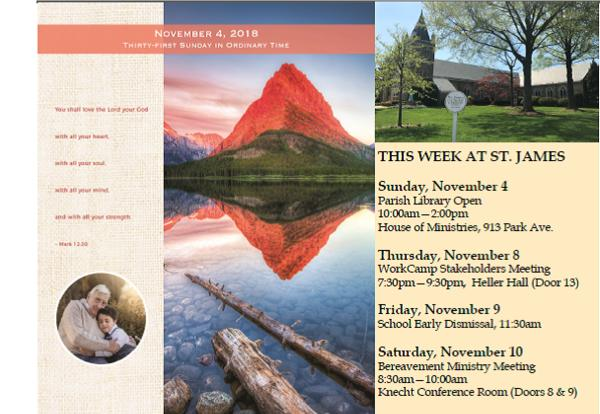 Bulletin for the Week of November 4