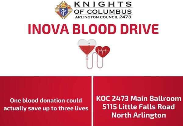 Knights of Columbus/INOVA Blood Drive-September 26th