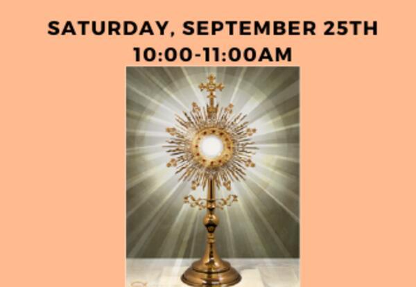 Children's Guided Adoration Hour September 25th