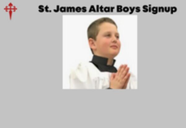 Altar Boy Registration and Training