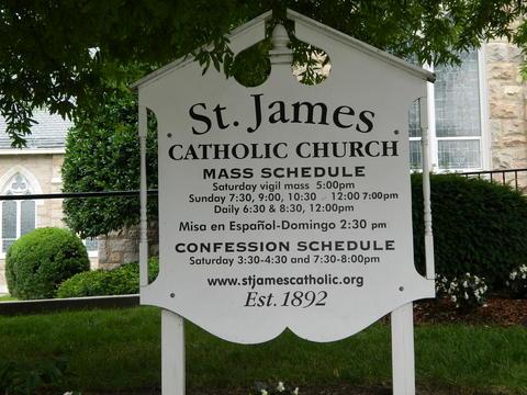 St. James Church Schedule Sign