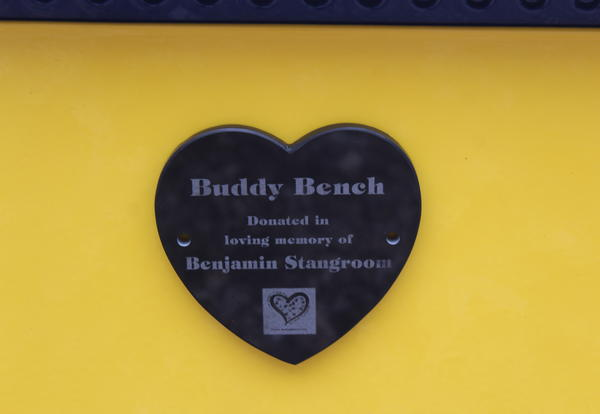 Bench Dedicated to Memory of Infant Son of Academy Family
