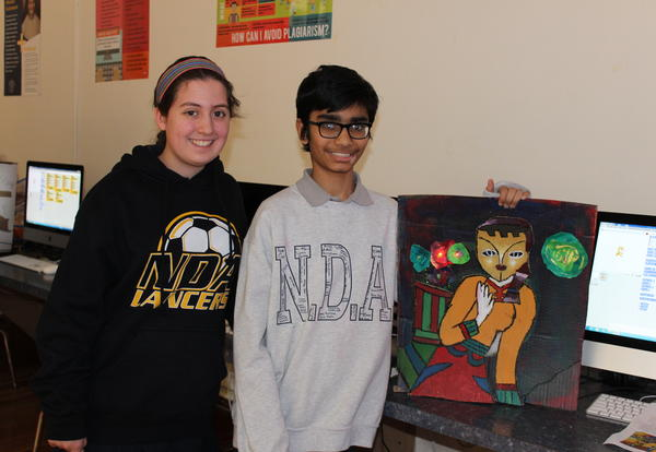 Academy of Notre Dame Students Present STEAM-Based Moving Masterpieces