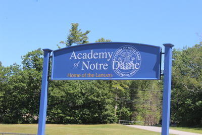 Academy of Notre Dame Sign