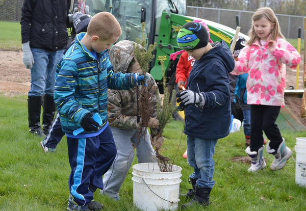 Growing the Future - 5K Students Plant Trees in Honor of Arbor Day