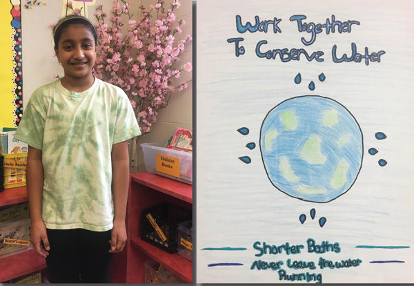 Sainailya Made a Splash in Water Conservation Poster Contest