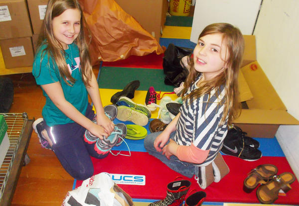 Janssen Students Put Their Best Foot Forward and Collect 305 Pairs of Shoes
