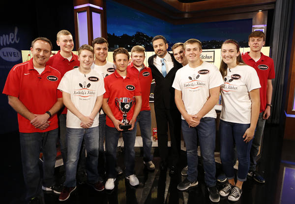 Our National Champion Rube Goldberg team was on Jimmy Kimmel LIVE!