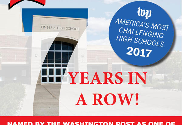 KHS Recognized by The Washington Post - 7th Year in a Row!