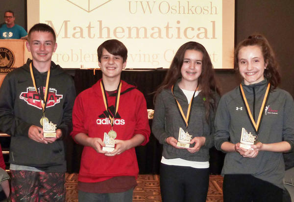 Kimberly Students + Math Problem Contest = Success!