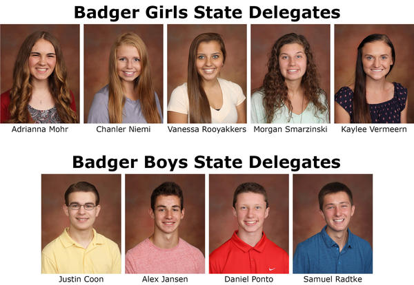Nine Students Attend Badger State