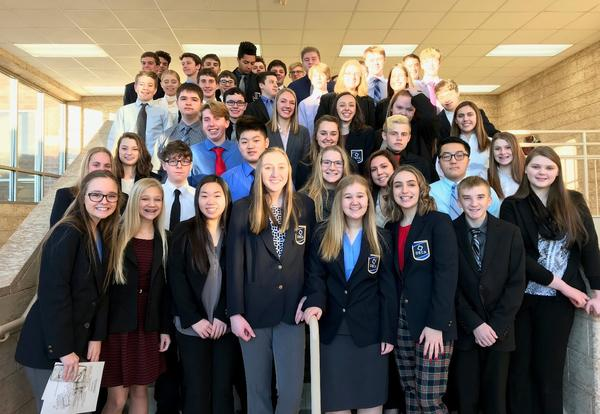 DECA Students Earn 41 Medals and 15 Advance to State