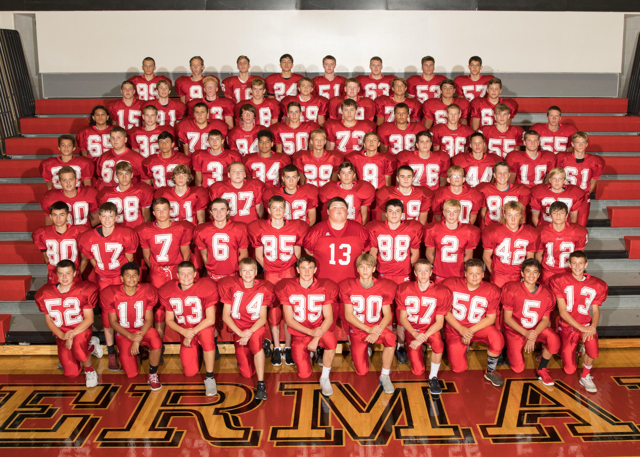 Kimberly Freshman Football Team Picture