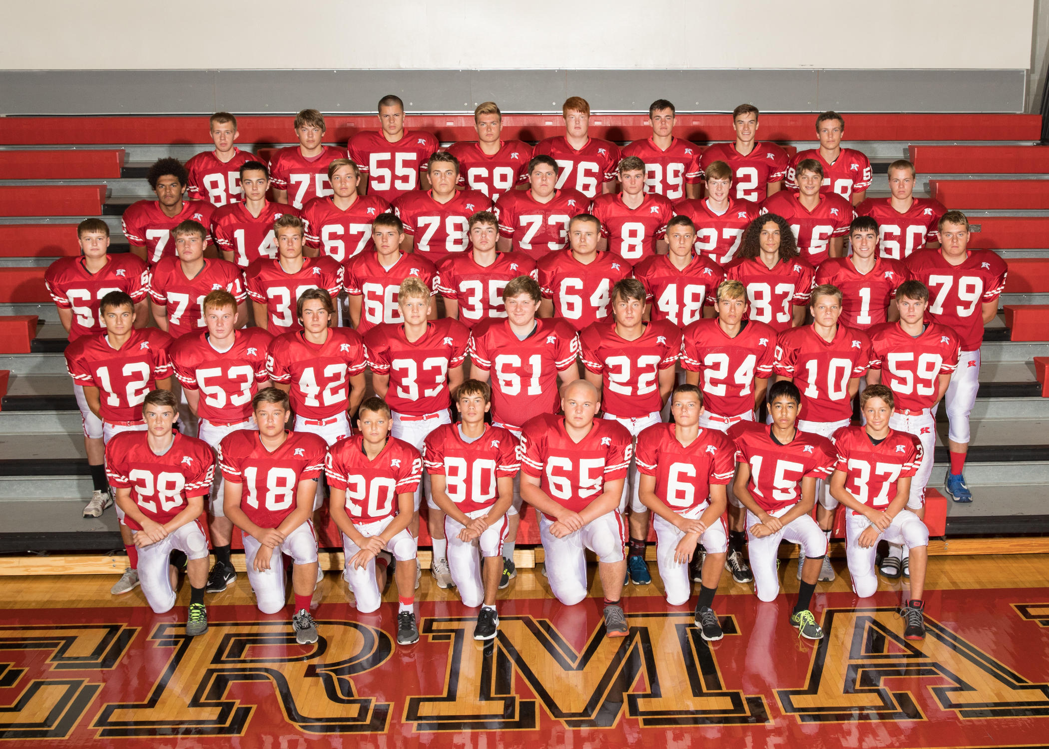 Kimberly JV Football Team Picture