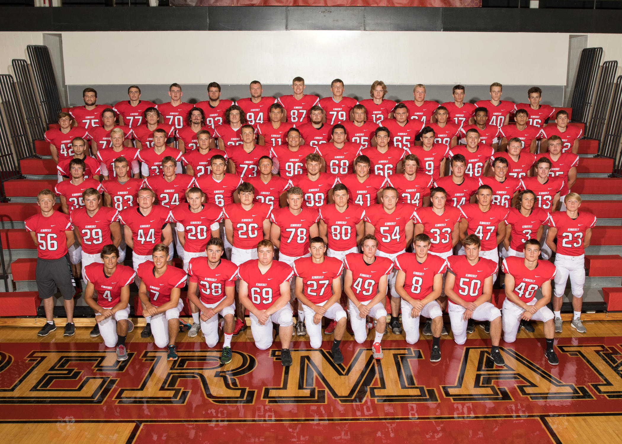 Kimberly Varsity Football Team Picture