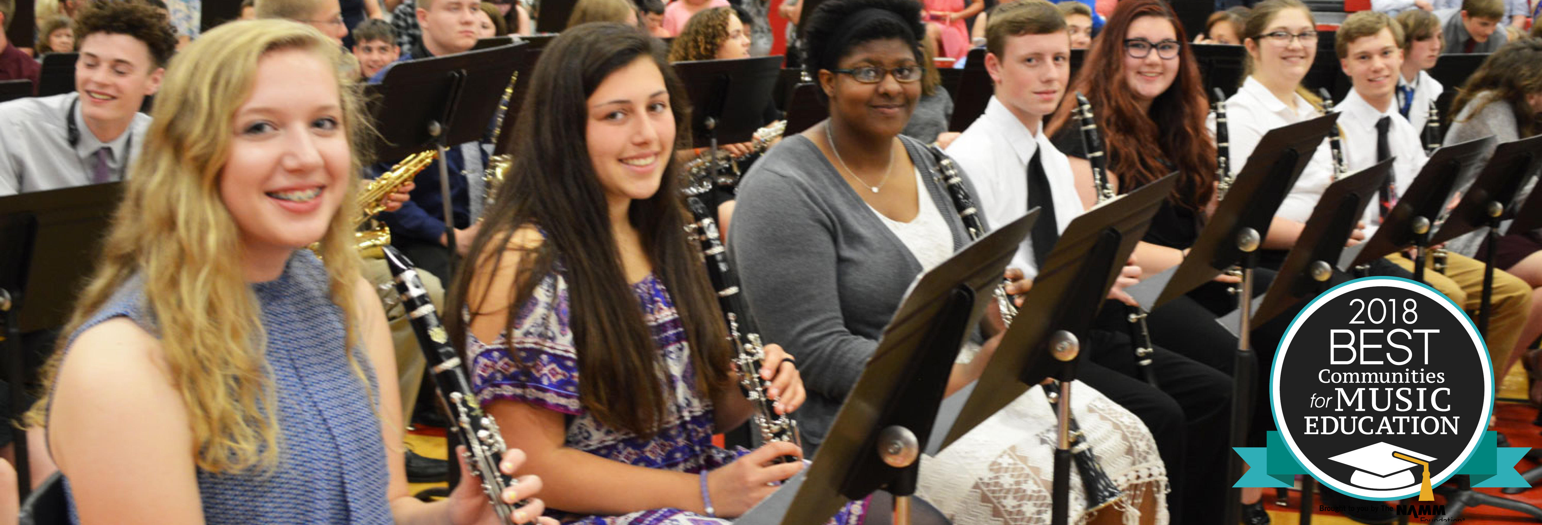 Named One of the Nation's Best Communities for Music Education!