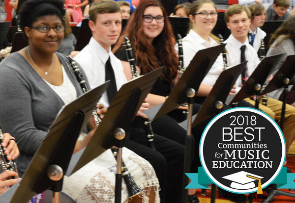 Named one of the Nation's Best Communities for Music Education