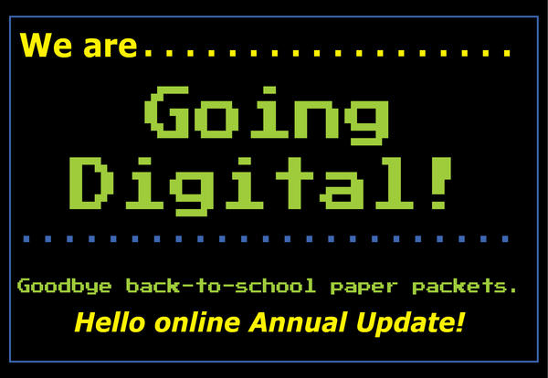 We are Going Digital for Back-to-School Paperwork!