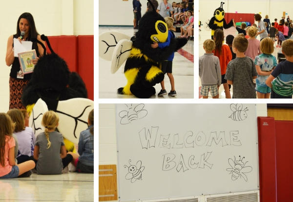 Collage of photos from Sunrise PBIS kick off.