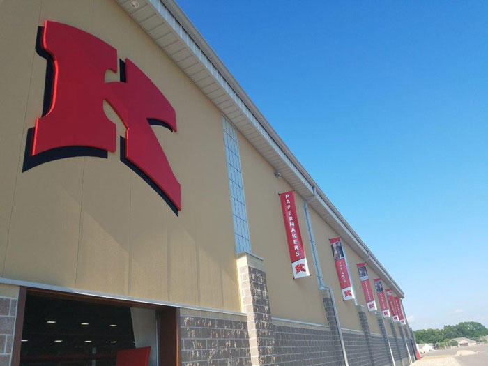 Indoor Facility exterior banners