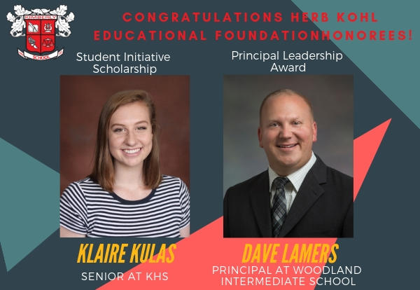 Two Kimberly Recipients Honored by the Herb Kohl Educational Foundation