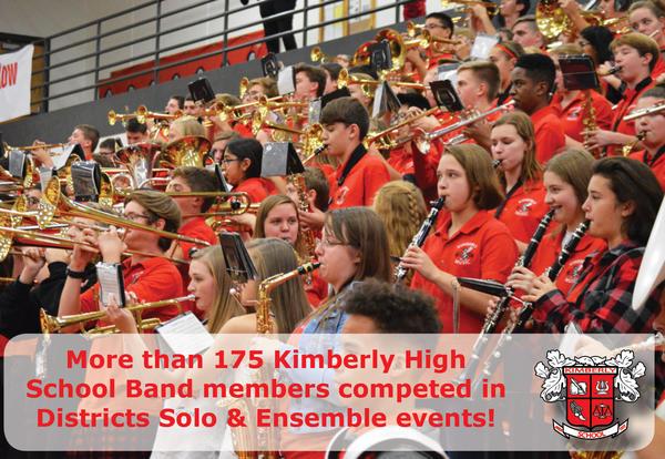 KHS Band District Solo & Ensemble Results