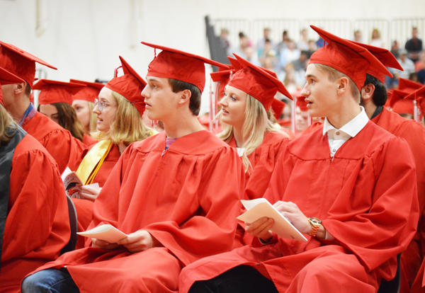 Students during the KHS Graduation ceremony