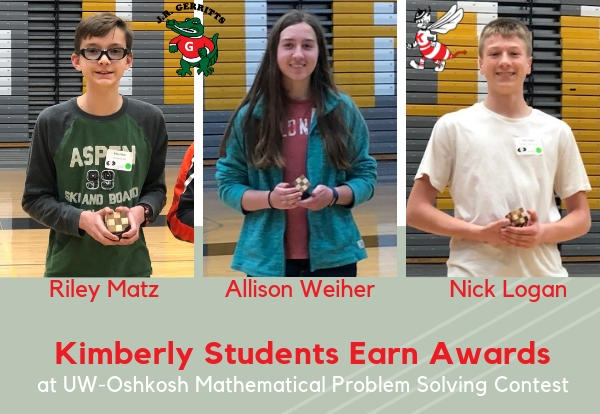 Kimberly Students + Mathematical Problem Solving Contest = Success