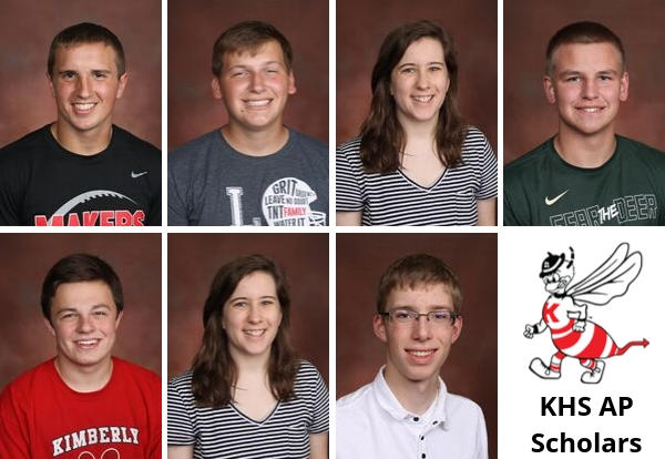 Photo collage of the 7 National AP Scholars