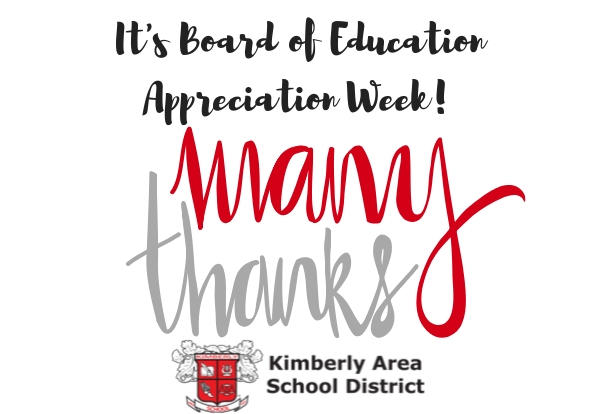 "Graphic ""It's Board of Education Appreciation Week! Many Thanks"""