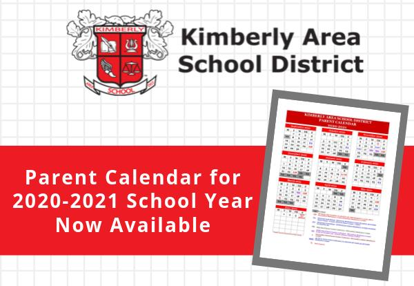 Parent Calendar for 2020-21 School Year