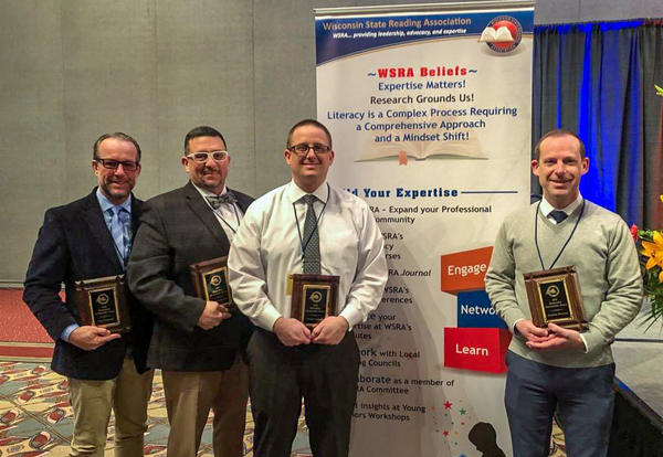 Administrative Team Honored with State Literacy Award