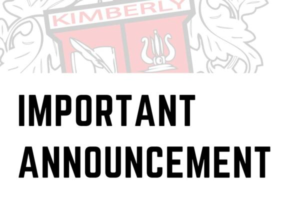 Important Announcement