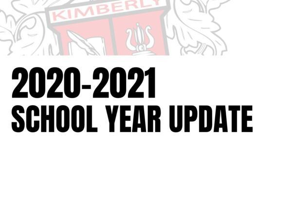 2020-2021 School Year Update
