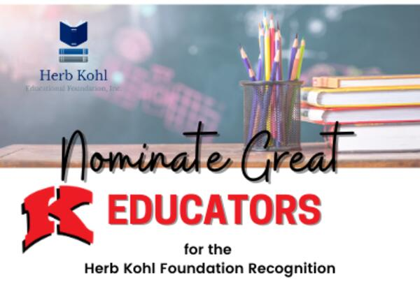 Nominate an educator for a kohl award image