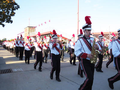 Photo of Kimberly High School marching band during homecoming parade
