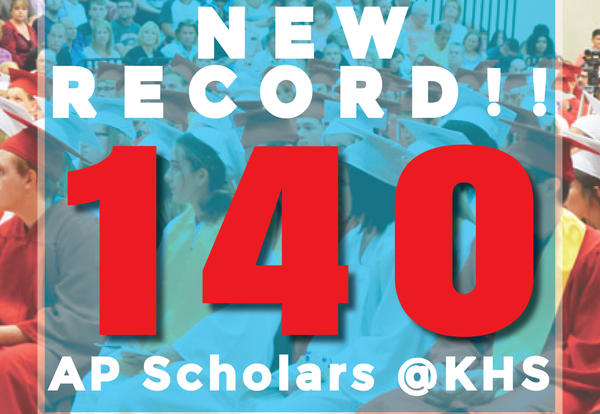 Record Breaking Number of KHS Students Receive AP Scholar Recognition!